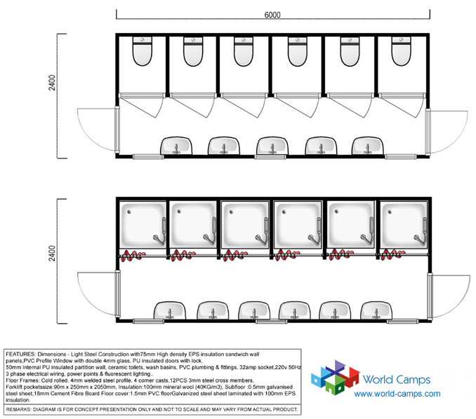 Camp Container Ablution Design