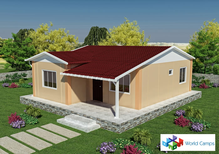 68 sq mtr Prefabricated House Design