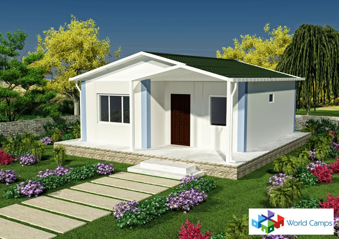 53 sq mtr prefab house ready prefab houses quick build for Cheap house design ideas