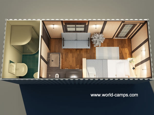ISO Container Accommodation with Bathroom