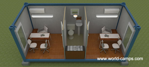 Container Homes, Demountable Container Camps, ISO Office Containers 600 x 270