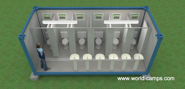 ISO Container Accommodation - WC or Toilet Interior